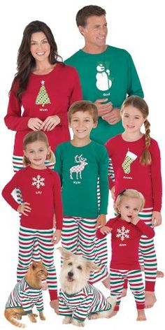 Holiday Stripe Matching Pajamas for the Whole Family $9.99 (69% OFF) + Free Shipping