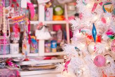 colourful christmas ornaments.