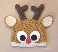 Repeat Crafter Me: Crochet Reindeer Antlers FREE Pattern. The original antlers and eyes were felt.