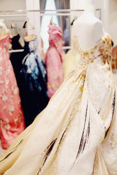 Inside the Christian Dior haute couture salon.  (Image via The Cherry Blossom Girl.)