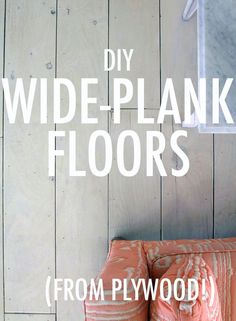 how to make your own plank floors.