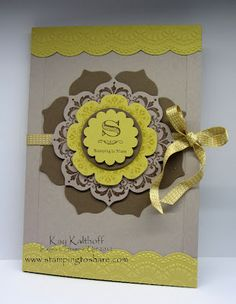 Daydream Medallions Stationery Holder with How To Video ... this is beautiful and would be a lovely card face too ... Stampin' Up! doili, card idea, craft, daydream medallion, stampin, stationari holder, stationeri holder, cards, stationery