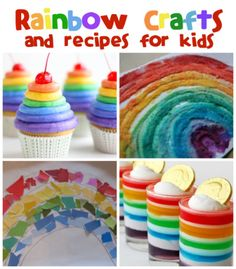 Fun Rainbow Crafts & Recipes from @funfamilycrafts