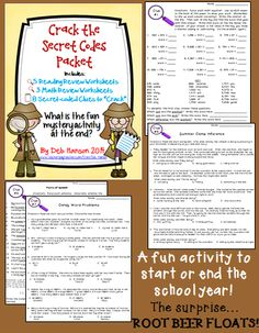 ... School-Mystery-Activity-Crack-the-codes-on-8-review-worksheets-737607