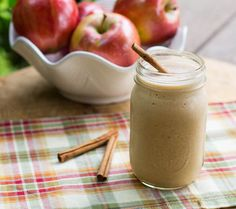 Caramel Apple Protein Shake. A blend of deliciousness for a fall must-have shake.