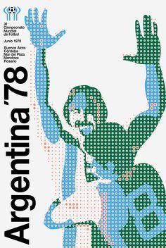 Cartel oficial del campeonato mundial de futbol de Argentina 1978 - Official poster of the football World Championship Argentina 1978