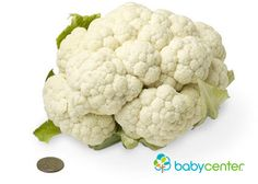 27 weeks: Your baby is as hefty as a head of cauliflower, weighing in at almost 2 pounds. (Length: about 14 1/2 inches.) @babycenter #howbigisyourbaby #pregnancy