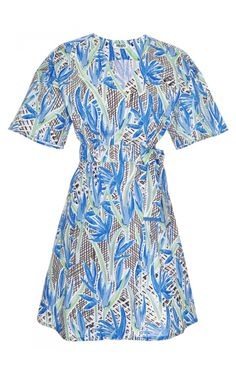 Printed Cotton Wrap Dress by Kenzo - Moda Operandi