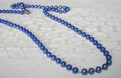 Blue Bead Necklace by bellendesigns on Etsy, $5.75