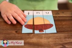 FREE Letter N Beginning Sounds CVC word puzzles.