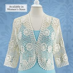 Alexandra Crocheted Shrug - Stylish Home Accents and Décor - Graceful Clothing, Accessories & Jewelry