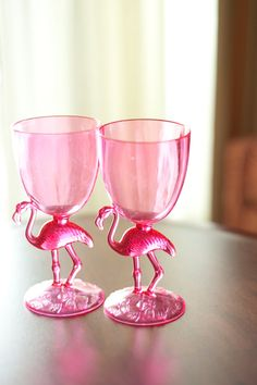 Pink flamingo toasting glasses!!!! I have these and they are so cute.
