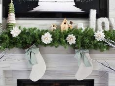 New Neutrals - One Mantel Styled Three Ways for the Holidays on HGTV