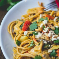 Coconut Curry Cabbage Stir-Fry with Pasta.