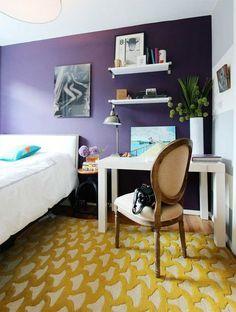 house tours, purple rain, rug, west village, style cure