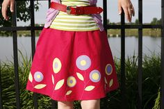 applique skirt - with tutorial