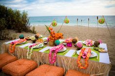 Luau party table
