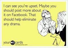haha ohhhh facebook.