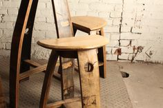Bourbon Barrel Table and Stools