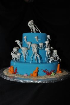 Jellyfish Cake By ccfl on CakeCentral.com
