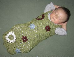 using scrap yarn to test a cocoon pattern. I think we like it. =)  I think I'll make more!