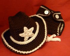 Cowboy Hat and Diaper Cover