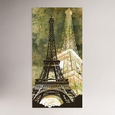 One of my favorite discoveries at WorldMarket.com: Eiffel Tower Canvas Wall Art Decal