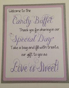 glitter candi, candy buffets, candy buffet wedding ideas, candy buffet signs, candi buffet, bridal parties, wedding candy buffet ideas, candi bar, bar signs