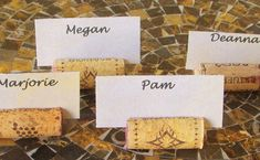 For wine and cheese nights! Place card holder | 10 #DIY Wine Cork Projects