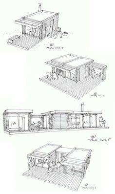 Prefab Cabins | Small Prefab: Mini House One + | Busyboo