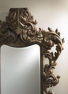 Hand carved oversized La Barge mirror - inspiration was a Florentine photo frame