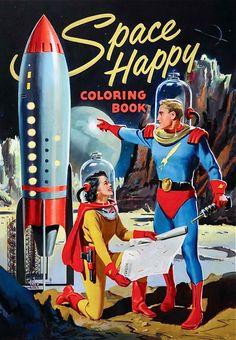 Space Happy Coloring Book