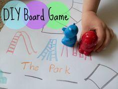 DIY Board Game game pieces, diy board, board games, kid