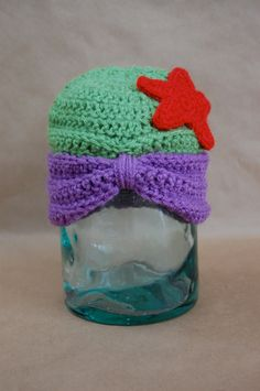 Disney Princess Ariel Inspired Crochet Hat. $25.00, via Etsy.