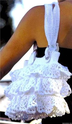 Patrones para Crochet: Bolso con Volantes de Crochet