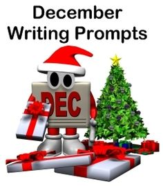 Creative writing prompts and lesson plan ideas for Christmas, winter, and specific holidays that occur in December.