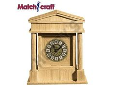 This Matchcraft Coliseum Clock includes everything needed to make this matchstick model kit.  Included are all the pre-cut card formers along with the glue, matchticks and full instructions. These instructions will guide you through each stage of the construction until you finally achieve the finished product.  We would highly recommend this Matchcraft Coliseum Clock.    Approx size of finished model:  130mm deep  243mm wide  292mm high