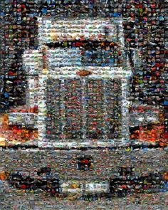 Peterbilt Semi Truck 18-wheeler Mosaic mosaic montage 8 x 10 art print