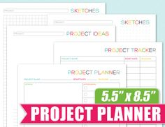 5.5 x 8.5 Project Planner