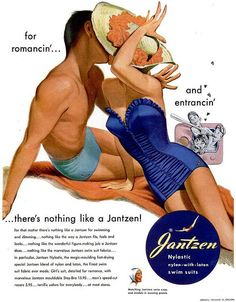 Jantzen Advertisement  Illustrated by Pete Hawley 1951    DAMN that is some tasty lighting.