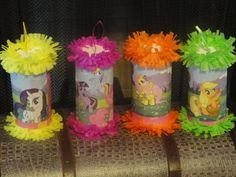 make mini pinatas out of toilet paper tubes