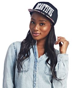 Beautiful Floral Snapback Hat | Wet Seal