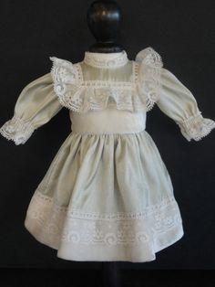 BLEUETTE Doll dress- For 11-12  antique vintage or Artist doll. Made in FRANCE  MAKE FOR SAMANTHA