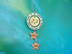 Stamped Necklace  Hand Stamped Jewelry  Mixed by CraftyCreations3, $24.00