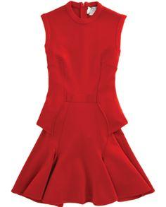Givenchy Knit Peplum Flare Dress via Discoveredd.com