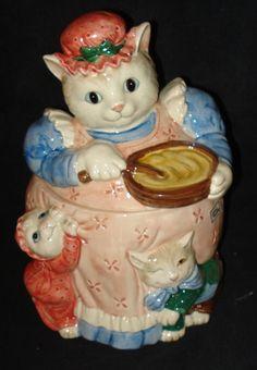 Fitz and Floyd Cat Cookie Jar