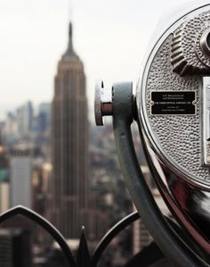View of Empire State Building from Rockerfeller Centre New York City.
