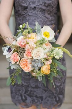 Beautiful! bridesmaids, event planning, wedding bouquets, bridesmaid dresses, the dress, floral designs, bridesmaid bouquets, lace dresses, flower