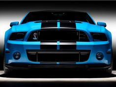 Black and blue 2012 Ford Mustang Shelby GT500