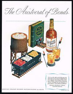 1947 Kentucky Tavern Bourbon Whiskey Railroad Train Theme Print Ad | eBay